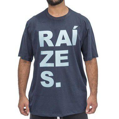 Camiseta Azul Marinho - Raízes