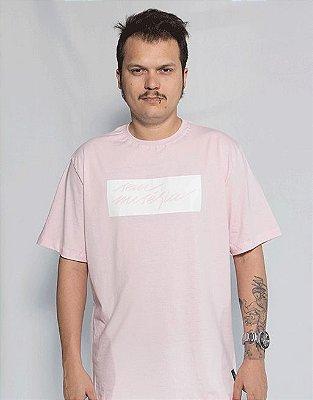Camiseta Sem Miséria Tag - Rosa