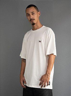 Camiseta Bordado Logo Básico - OffWhite