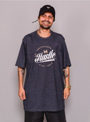Camiseta Owl Hustle - Chumbo