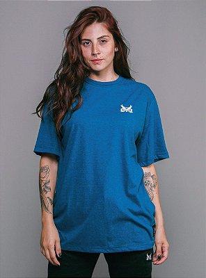 Camiseta Owl Logo Básico - Azul HK