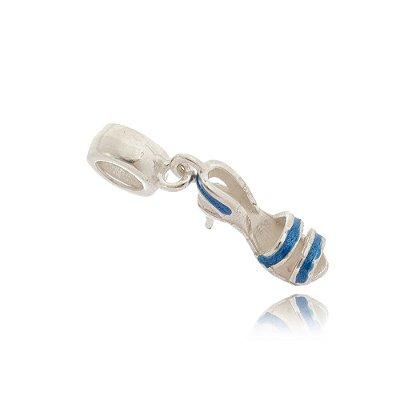 Berloque Sandália Azul em Prata 925 - 09679