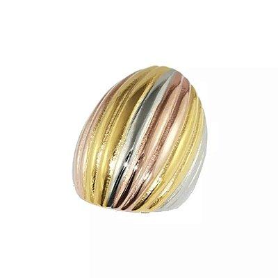Anel de Aço com Ouro Giovanna - 04056