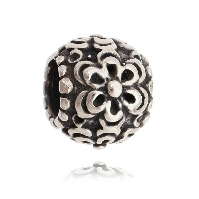 BERLOQUE DE PRATA BEADS MARGARIDA - 07647
