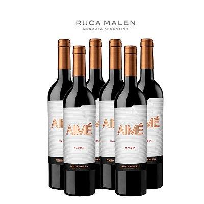 Vinho Tinto Malbec Aimé Ruca Malen 2018 750mL - 6 Garrafas