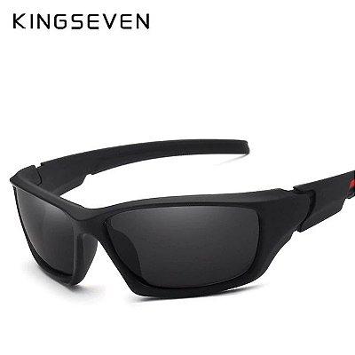 Óculos de Sol Kingseven hastes flexíveis - Estilo Google - Lentes polarizadas proteção UV400