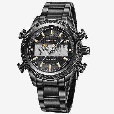 Relógio Masculino Weide Anadigi WH-3406 – Preto e Amarelo