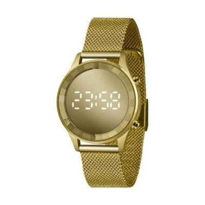 Relógio Lince Feminino Digital Led Dourado Ldg4648l Cxkx