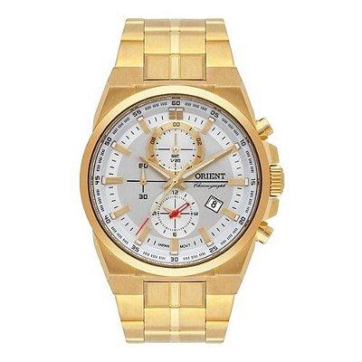 Relógio Orient Masculino Cronógrafo MGSSC035 S1KX Dourado