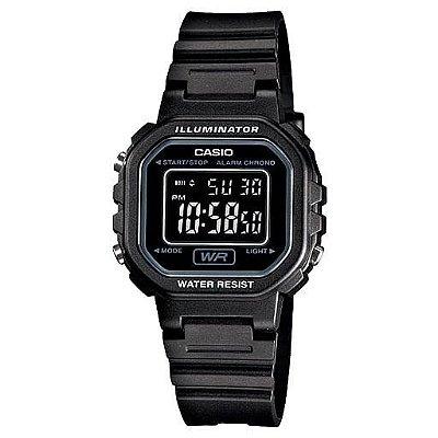 Relógio Casio Illuminator Unissex Digital Preto LA-20wh-1BDF