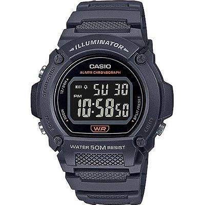 Relógio Casio Masculino Standard Digital Preto W-219H-8BVDF