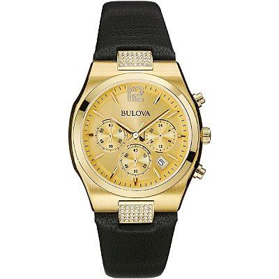 Relógio Bulova Chronograph Feminino WB27967X Analógico