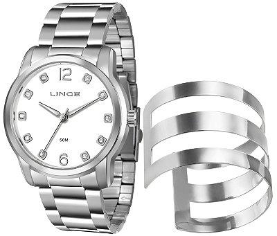 Kit  Relógio Lince Femenino Com Bracelete - LRM4391L-K193B2SX