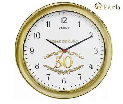 Relógio De Parede Bodas De Ouro -6637