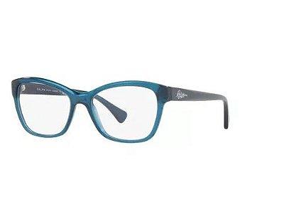 Armação Óculos Grau  Ralph Lauren Ra7095 5679 Azul Translúcido