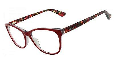 250d6de83 Armação Óculos Grau Guess GU2547 - Tartaruga Vermelho - 68/53