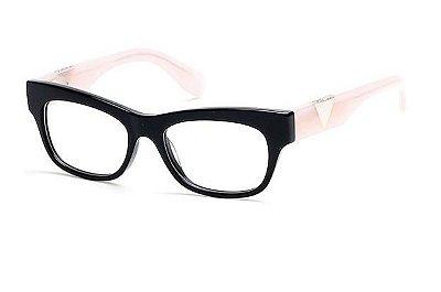 7a378df65 Armação Óculos Grau Guess Gu2575 Black Rosê