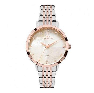 Relógio Feminino Technos Fashion Trend 2036mji/5b Prata/rosê
