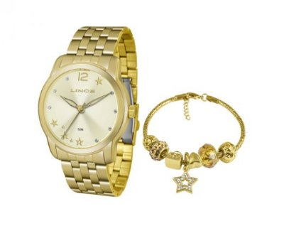 e4de885eb2c Relógio Lince Feminino Lrg4554l +Kit Semijóias - Perolashop