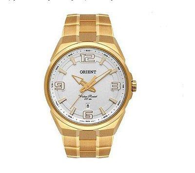 Relógio Orient Masculino Dourado Mgss1162