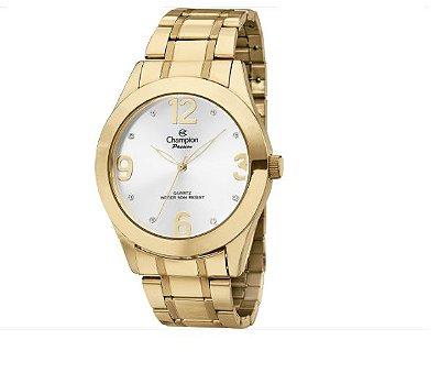 9f2e6568d78 Relógio Feminino Champion Social Dourado CN28866H - Perolashop