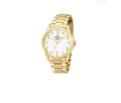 Relógio Champion Feminino Elegance Dourado WR 50 Mt Cn26242h