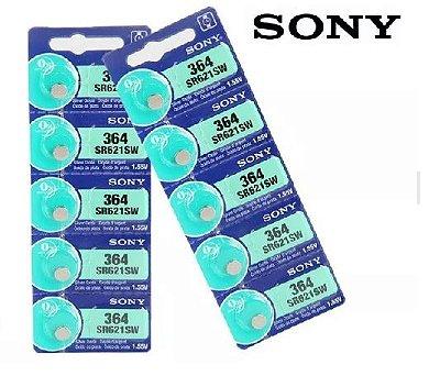 Bateria Pilha para relógio 364 SR621 Sony original cartela com 5 peças