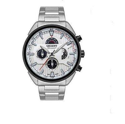 Relógio Orient Masculino Mbssc202 S1sx Cronógrafo Prateado