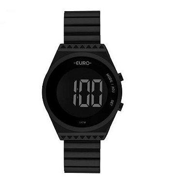 Relógio Euro Feminino Eubjt016ad/4p Digital Preto Fosco