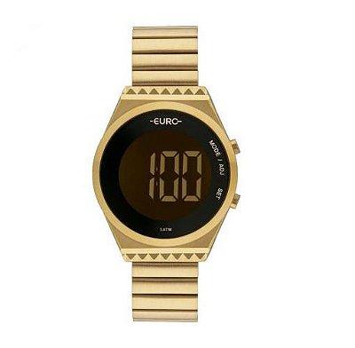 Relógio Euro Feminino EUBJT016AA/4D Digital Slim Dourado