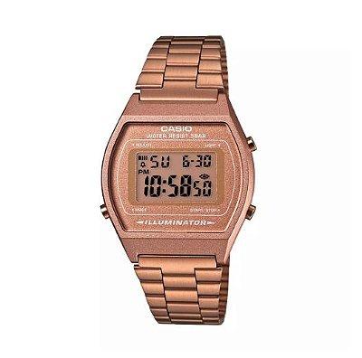 Relógio Casio Digital Feminino Vintage Rose Gold B640WC-5ADF