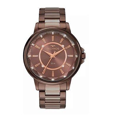 Relógio Technos Feminino Marrom 2039CM/4M