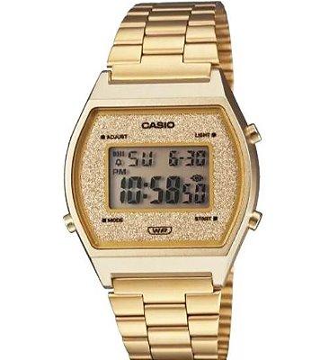 Relógio Casio Digital Vintage dourado B640WGG-9DF