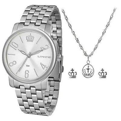 Kit Relógio Lince Feminino Lrm4555l Kv34