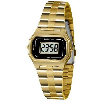 Relógio Lince Feminino Digital Dourado SDG4608LkY03BXkX