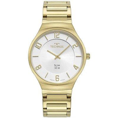 Relógio Technos Masculino Ref: 1l22wk/1k Slim Dourado