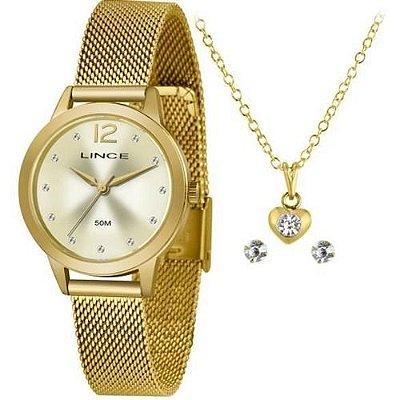 Kit Relógio Lince Feminino Lrgh141L Ky25C2KX