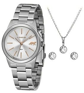 Relógio Lince Kit Prata LRMH125L KX27 S1SX