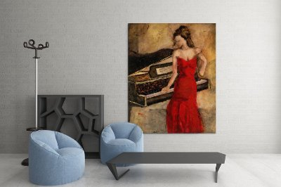 Quadro Decorativo Tela Cintia in Red 100 x 80 cm