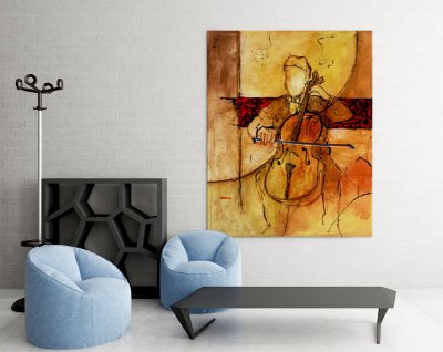 Quadro Decorativo Tela Great Cello 100 x 80 cm