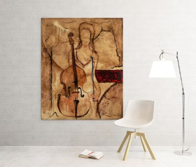 Quadro Decorativo Tela Principal Cello 100 x 80 cm