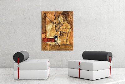 Quadro Decorativo Tela Saxofonist 100 x 80 cm