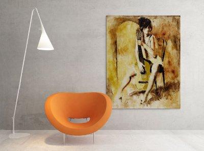 Quadro Decorativo Tela Love Song 100 x 80 cm
