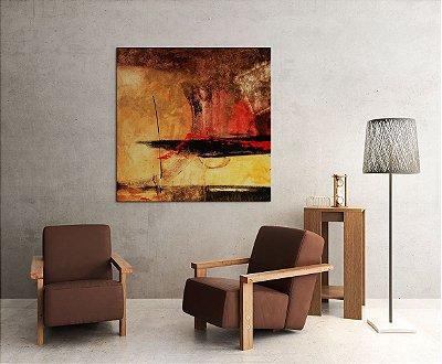 Quadro Decorativo Tela Dominante 100 x 100 cm