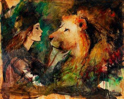 Gravura Fine Art O Noivo e a Noiva 40 x 50 cm