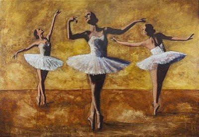 Arte Contemporânea Tela Academia de Balé 50 x 80 cm