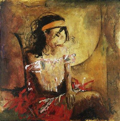 Arte Contemporânea Tela Desires 70 x 70 cm