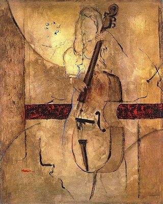 Arte Contemporânea Tela Great Bass 80 x 60 cm