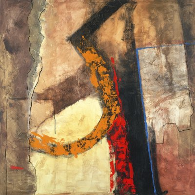 Arte Contemporânea Tela Mie-Ken 70 x 70 cm