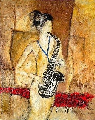 Arte Contemporânea Tela Rachel 80 x 60 cm